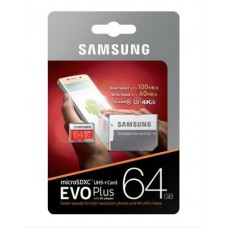Карта памяти Samsung EVO PLUS 64Gb UHS-3