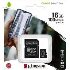 Карта памяти MicroSDHC 16Gb Kingston class 10 100Mb/s